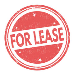 For lease sign or stamp vector