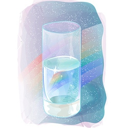 Glass rainbow of water vector