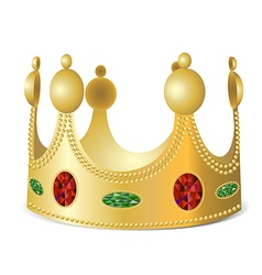 Gold crown with gems vector image
