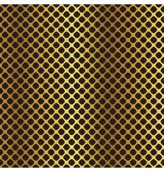 Golden black metallic diagonal grid background vector image