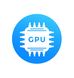 Gpu icon graphic processor chipset vector