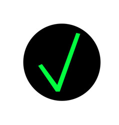 green tick icon isolated on vector image