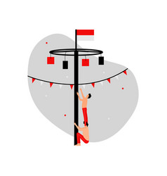 Happy independence day indonesia game vector