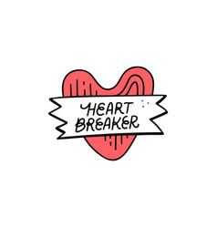 Heart breaker sticker vector