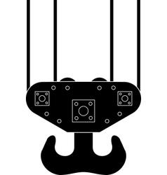 Hook of sea port crane vector