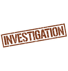 Investigation stamp vector
