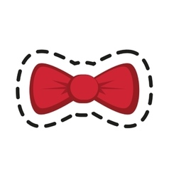 Isolated bowtie of hipster style design vector