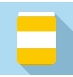 Jar of pills icon flat style vector