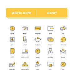 line icons set money vector image