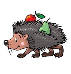 Little funny hedgehog vector image