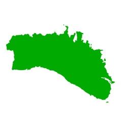 Map of Menorca vector image