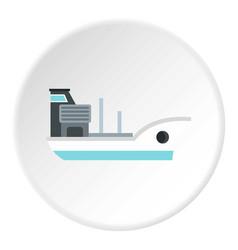 marine ship icon circle vector image
