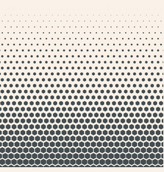 monochrome halftone gradient with hexagonal vector image