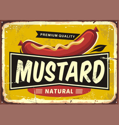 Mustard promotional retro label design vector
