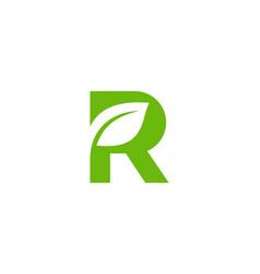 nature letter r logo icon design vector image