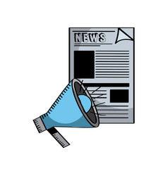 Newspaper icon image vector
