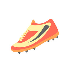 One training shoe part american football vector
