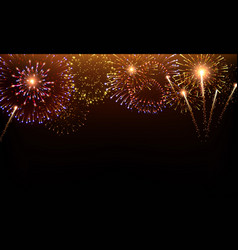 Pyrotechnics and fireworks background vector