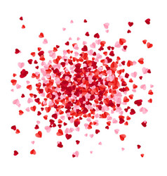 red pink and rose scatter paper hearts confetti vector image