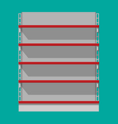 Retail plastic shelves in front view for products vector
