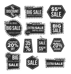 sale banners set dotted cutting line vector image