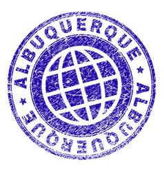scratched textured albuquerque stamp seal vector image