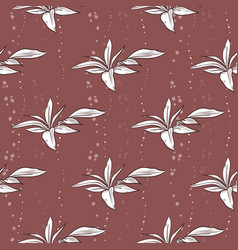 seamless pattern of peony leaves vector image