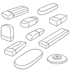 set of eraser vector image