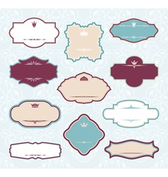 set of royal decorative frames vector image