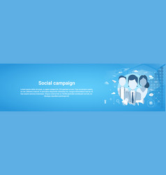 Social campaign marketing business concept vector