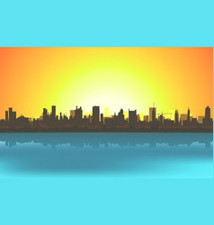 Summer cityscape background vector