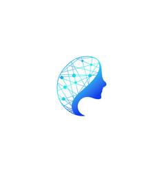 Symbol human head logo vector