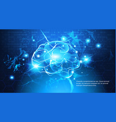 technology concept digital brain with electric vector image