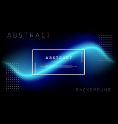 trendy abstract blue liquid background vector image
