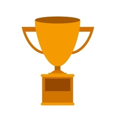 Trophy Cup gold with plate vector