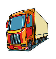 truck freight traffic vector image