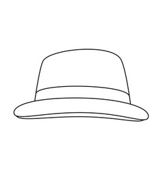 Vintage hat fashion vector