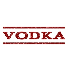 Vodka watermark stamp vector