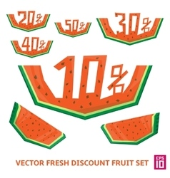 Watermelon discount vector image
