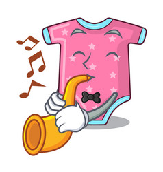 with trumpet cartoon baby clothes for the newborn vector image