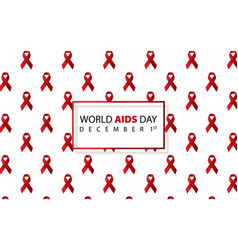 world aids day aids awareness aids red ribbon vector image