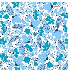 Light blue floral seamless pattern vector image