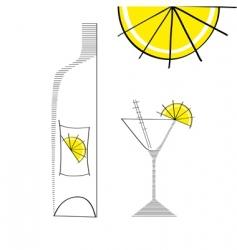 martini glass vector image vector image
