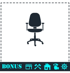 Office chair icon flat vector