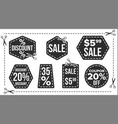 sale banners set edge silhouettes vector image vector image