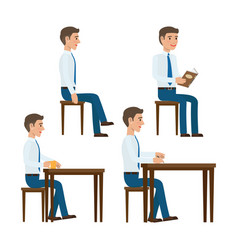 seating office worker templates set vector image vector image