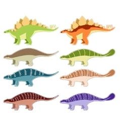 Set of armored dinosaurs vector image