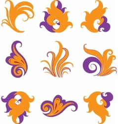 set of different abstract symbols for design vector image vector image