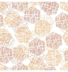 Abstract mosaic hexagon texture vector image vector image