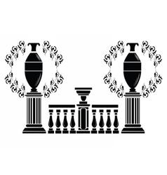 Architectural decorative columns vector image